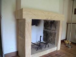 Décor sur cheminée