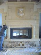 Sculpture et décor sur cheminée